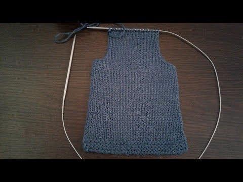 Как связать спинку свитера спицами для начинающих