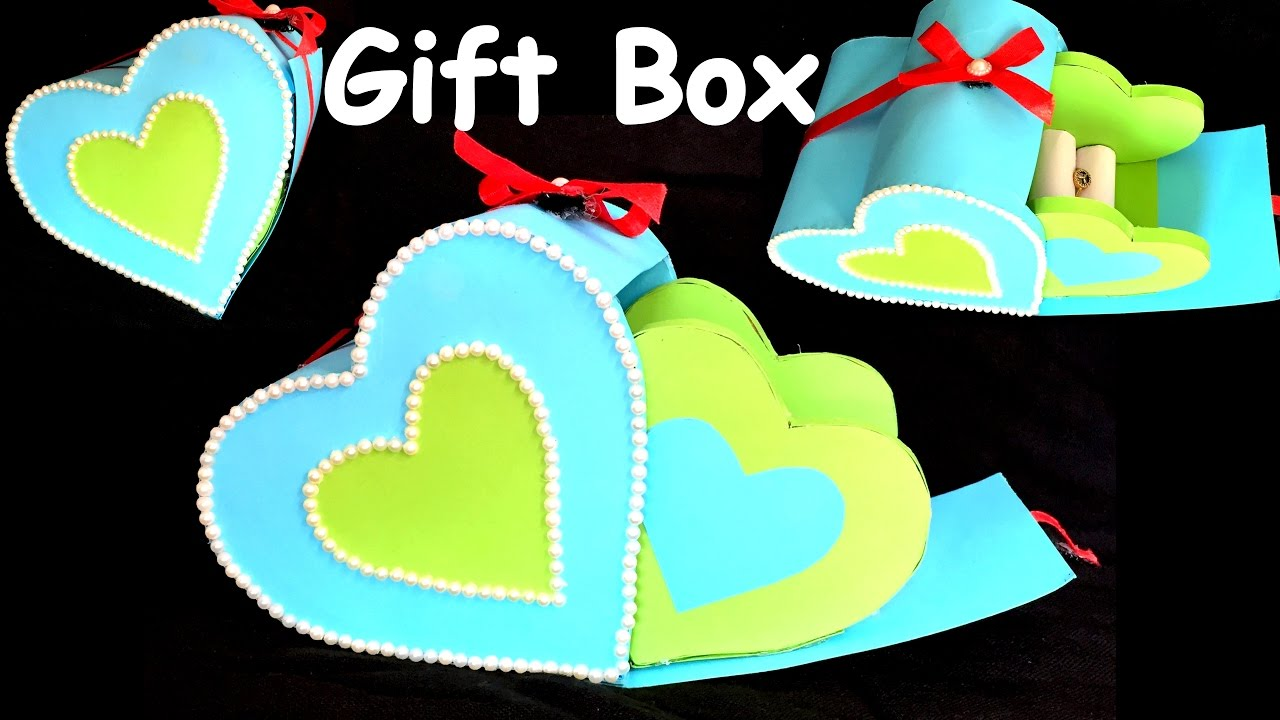 Diy How To Make Heart Gift Box Paper Craft Cardboard Craft