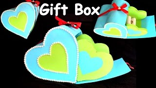 DIY - How to make HEART GIFT BOX? /paper craft/ best gift ideas/ valentineday gift box.