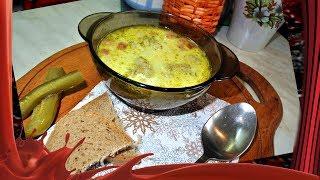 Підбивана пасуля з пікницею///Суп с фасолью и колбасой.