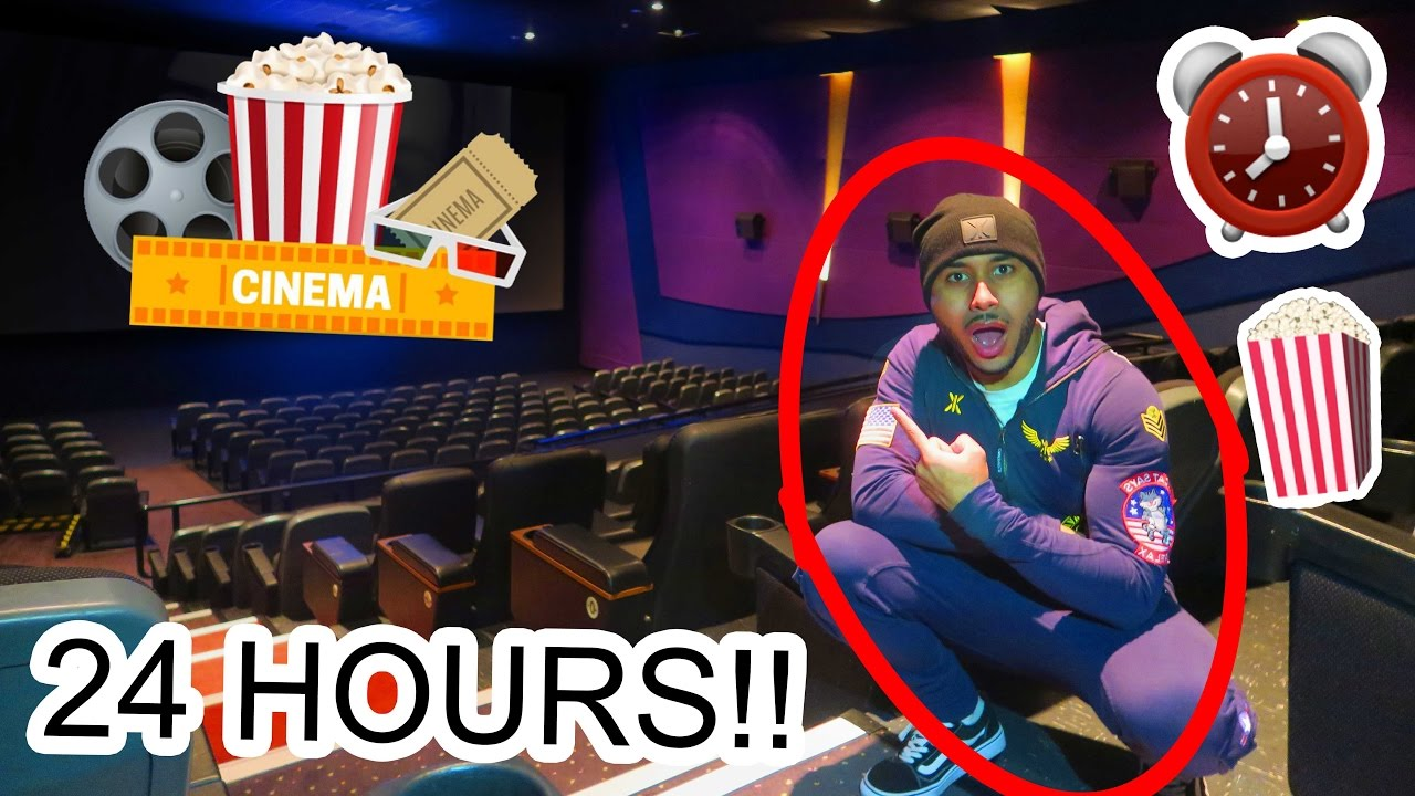 overnight in a movie theatre cinema �� �� �� 24 hour fort
