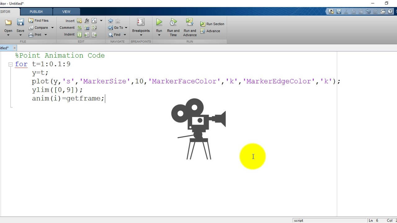 2D Animation in MATLAB