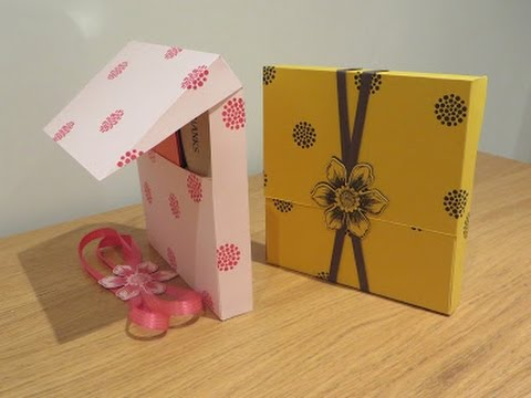 Large Gift Box with Flip Lip, Tutorial using Beautiful Bunch by - large gift boxes with lids