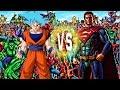 Superman and Goku vs The Marvel Universe