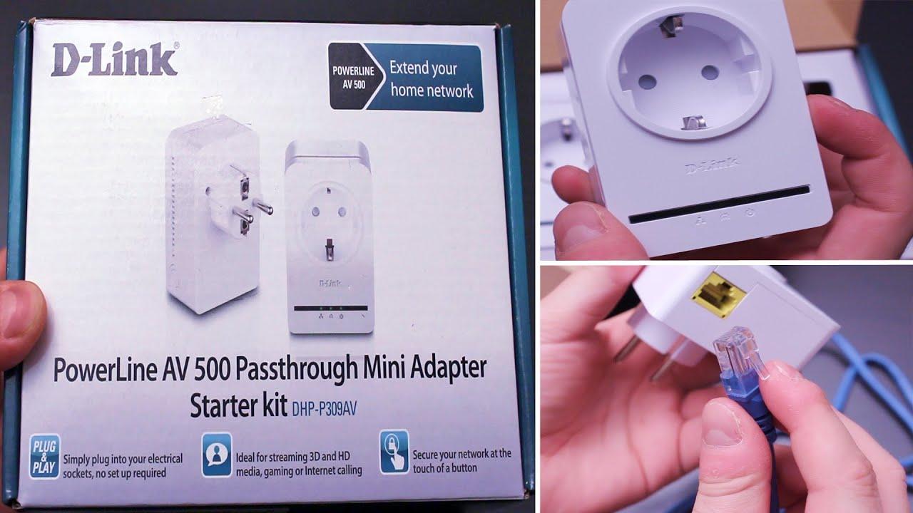 D Link Powerline Av 500 Mini Adapter Starter Kit Dhp P309av Using Homeplug Ethernet For Home Network Media Streaming Unboxing