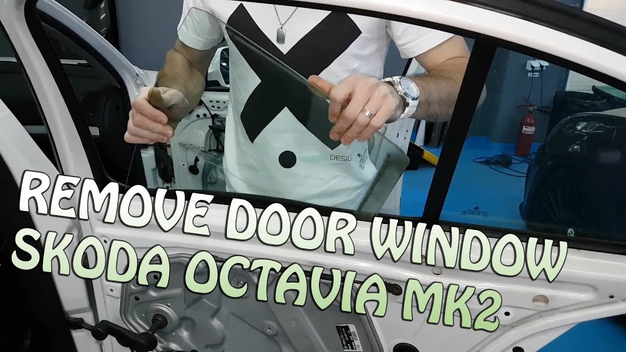 Remove Rear Back Door Window Skoda Octavia Mk2 Facelift 09 13 Youtube