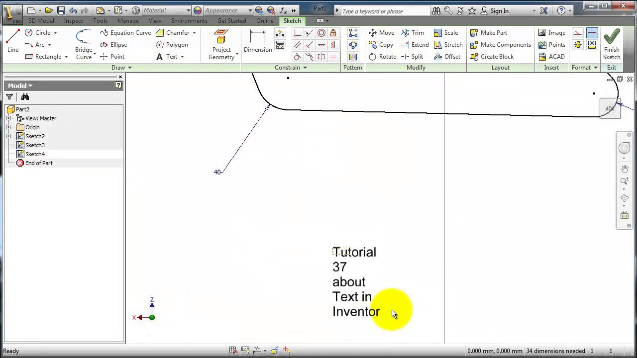how to make text bigger in inventor