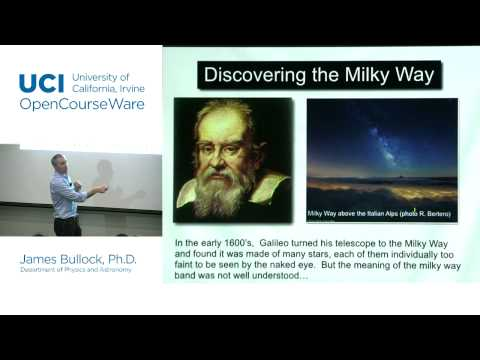 Physics 20B. Cosmology. Lec. 15: Discovering the Milky Way