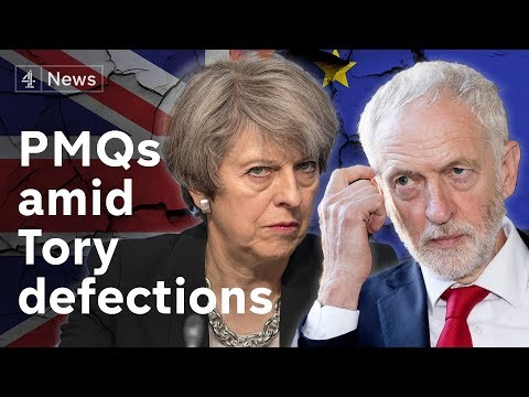 PMQS amid cross-party defections over Brexit
