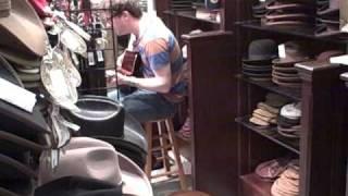 Graham Coxon in a hat shop in SXSW