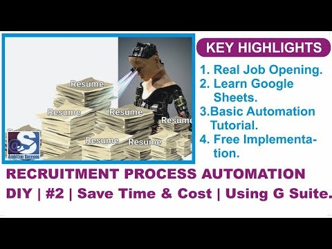 Recruitment Process Automation DIY | #2 | Google Sheets | Save time and money.