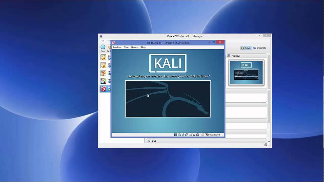 virtualbox kali linux install