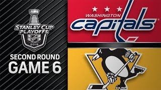 NHL 18 PS4. 2018 STANLEY CUP PLAYOFFS SECOND ROUND GAME 6: EAST CAPITALS VS PENGUINS. 05.07.2018 !