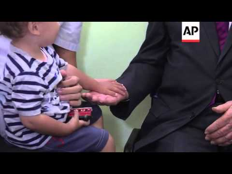 Peres visits polio vaccination centre amid reports virus detected in sewage
