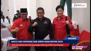 Hasto Siap Dipidana Jika Data Kemenangan Jokowi Versi PDIP Cuma Rekayasa
