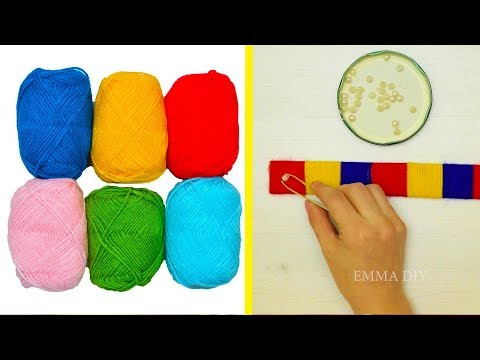 diy-yarn-craft-ideas-||-cute-and-warm-yarn-crafts