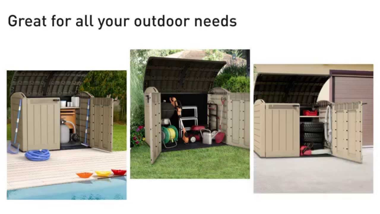 keter store it out ultra garden storage box xxl youtube. Black Bedroom Furniture Sets. Home Design Ideas
