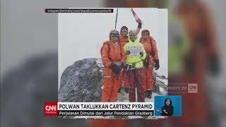 24 Polwan Taklukan Cartenz Pyramid, Puncak Tertinggi di Indonesia