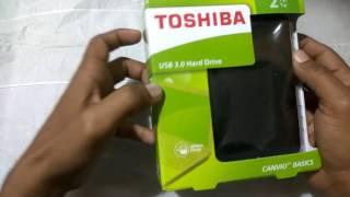 TOSHIBA 2TB EXTERNAL HARD DISK UNBOXING || HINDI