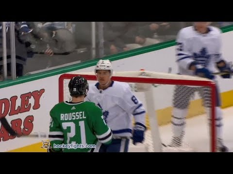 Connor Carrick vs Antoine Roussel Jan 25, 2018