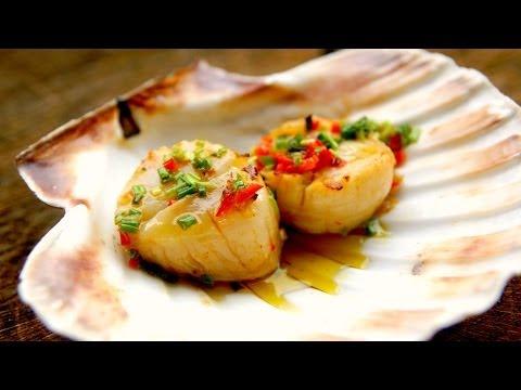 How To grill scallops Scallops video recipe