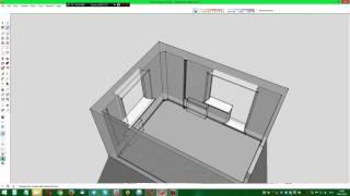 SketchUp Make - рисую батареи, трубы и тумбочку из Икеи