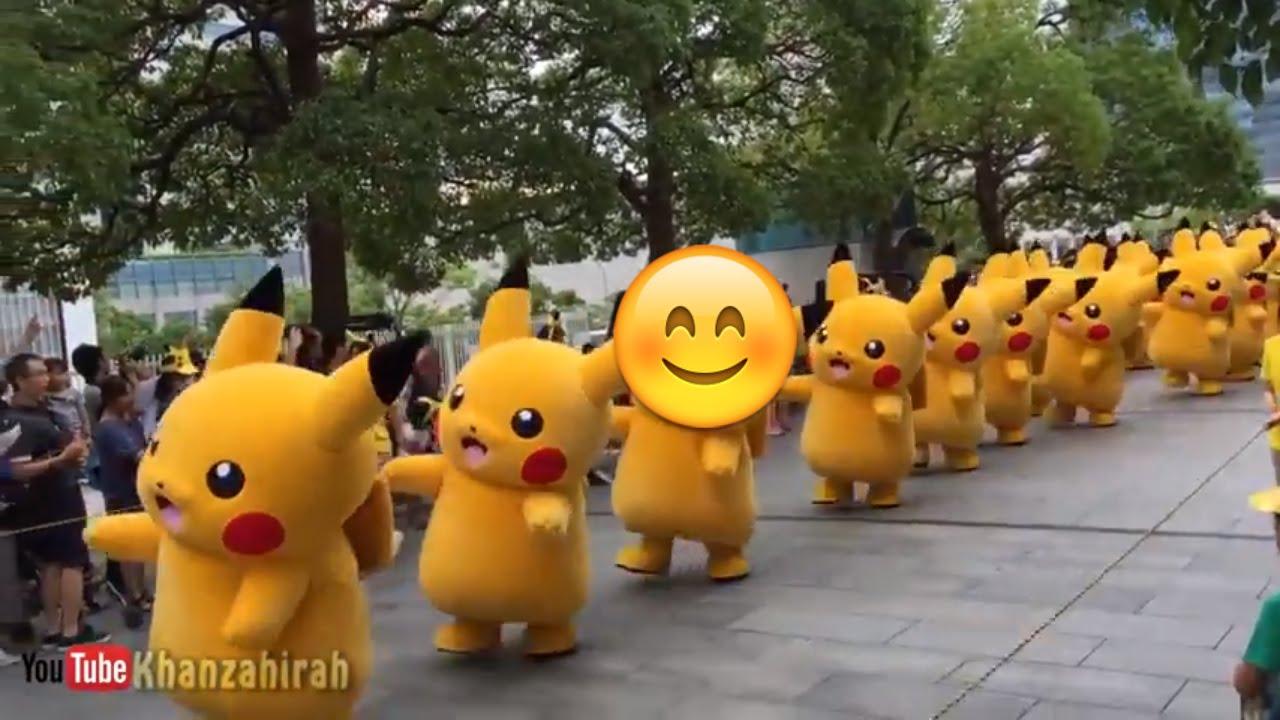 Gerak Jalan Pokemon Pikachu Lucu Youtube