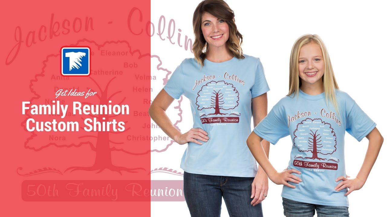 Ideas for Family Reunion T-Shirts - YouTube