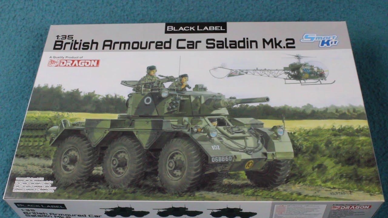 Black Label British Armoured Car Saladin Mk 2 In-box Review