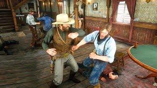 Red Dead Redemption 2 Arthur Starts a Saloon Brawl