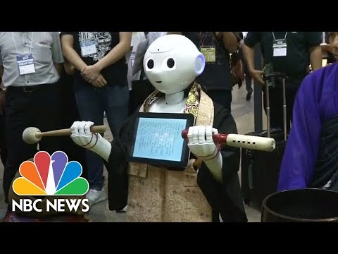 Pepper The Robotic Buddhist Priest Debuts In Japan | NBC News