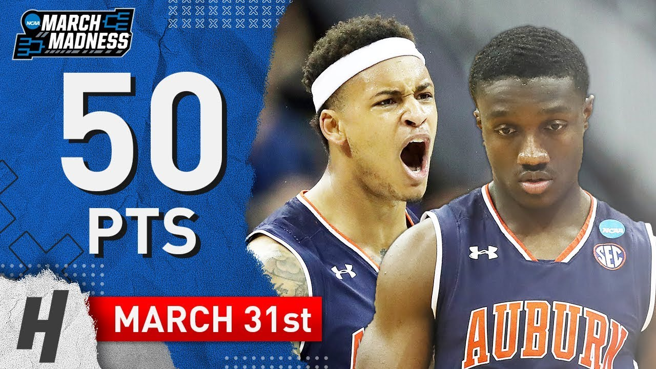 Bryce Brown Jared Harper Full Highlights Auburn Vs Kentucky 2019 03 31 50 Pts Combined