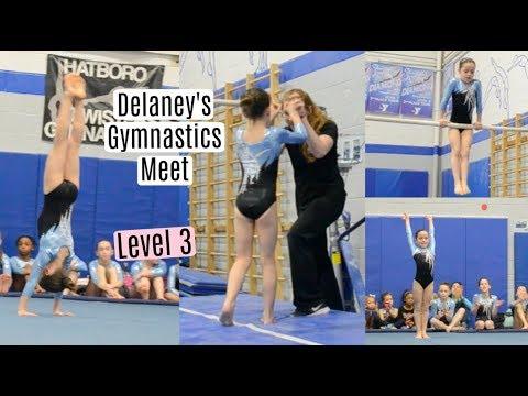 Delaney's Level 3 Gymnastics Meet!! Everyday Gymnastics