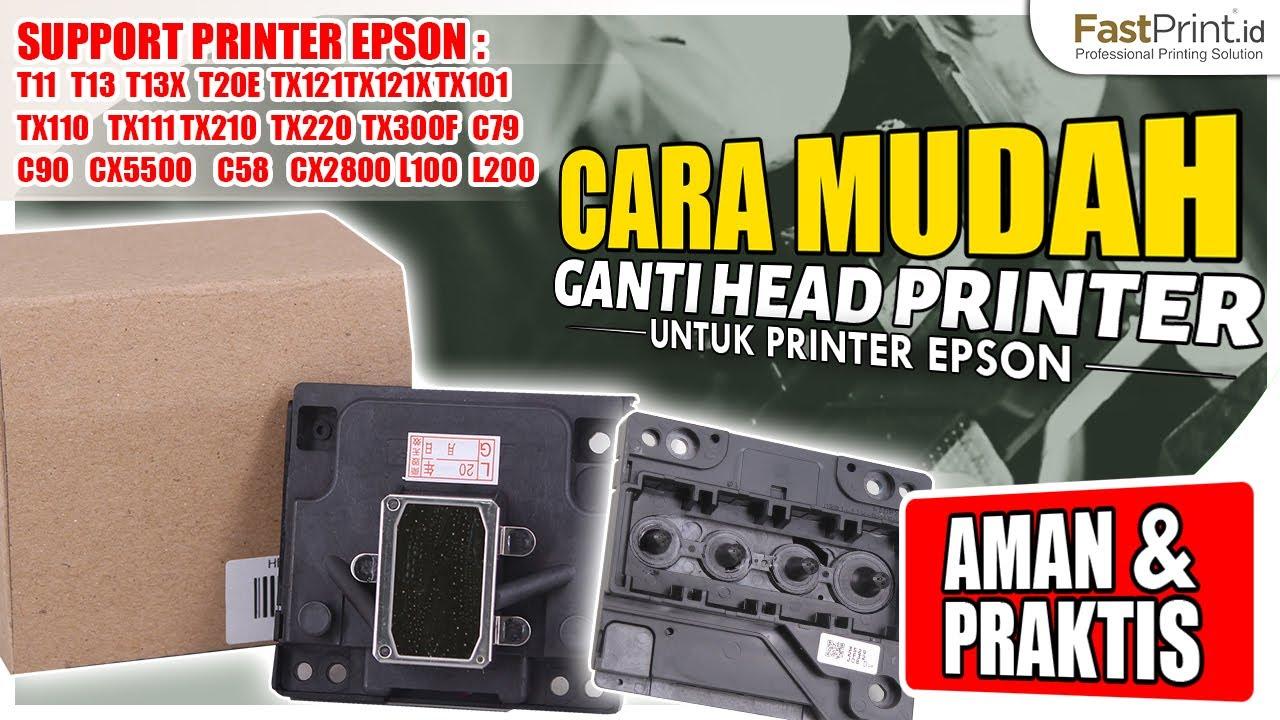 Bingung Cara Mengganti Head Epson T13 T13x T11 C90 Tonton Video