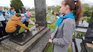 2021-05-07 г. Брест. Акция на Гарнизонном кладбище.  Новости на Буг-ТВ. #бугтв