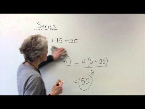 Series sum of arithmetic and geometric series