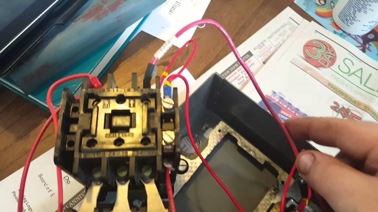 Marathon 1 3 Hp Motor Wiring Diagram Start Stop 3 Phase Motor Starter Wiring Youtube