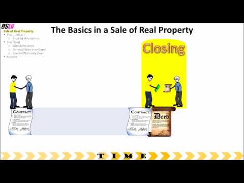 Sale of Real Property - Review of the Basics