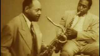Charlie Parker, Coleman Hawkins, Lester Young_1950_by DAMS
