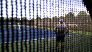 Andy Murray training - hitting on the run drill