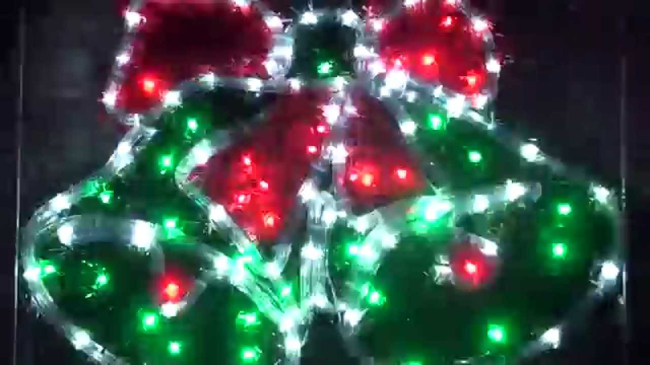 christmas lighting show christmas bell rope light display decoration animation motif