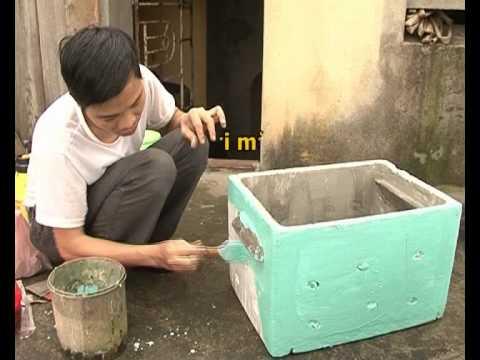 Kỹ thuật làm thùng nuôi ong từ thùng xốp.