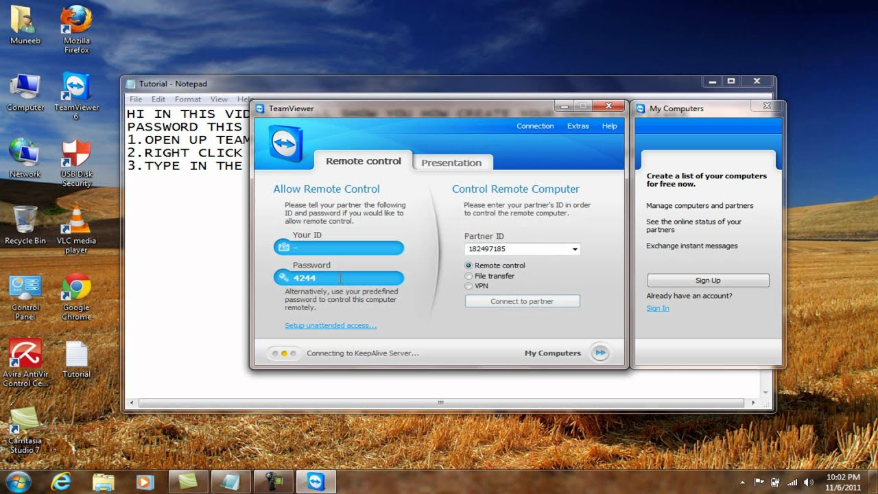 Change Your Teamviewer password permanently