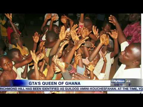 Video: GTA woman made a Queen of Ghana due to work on orphanage