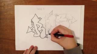 ➠!₭ак рисовать граффити на бумагеツ