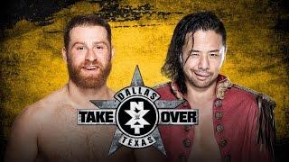 WWE NXT TakeOver: Dallas Shinsuke Nakamura vs Sami Zayn Match Predictions