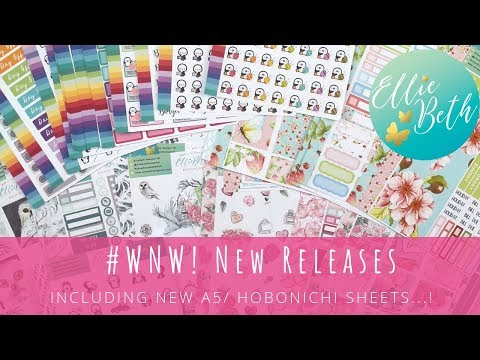 #WNW New Releases! Including new A5/ Hobonichi Sheets...