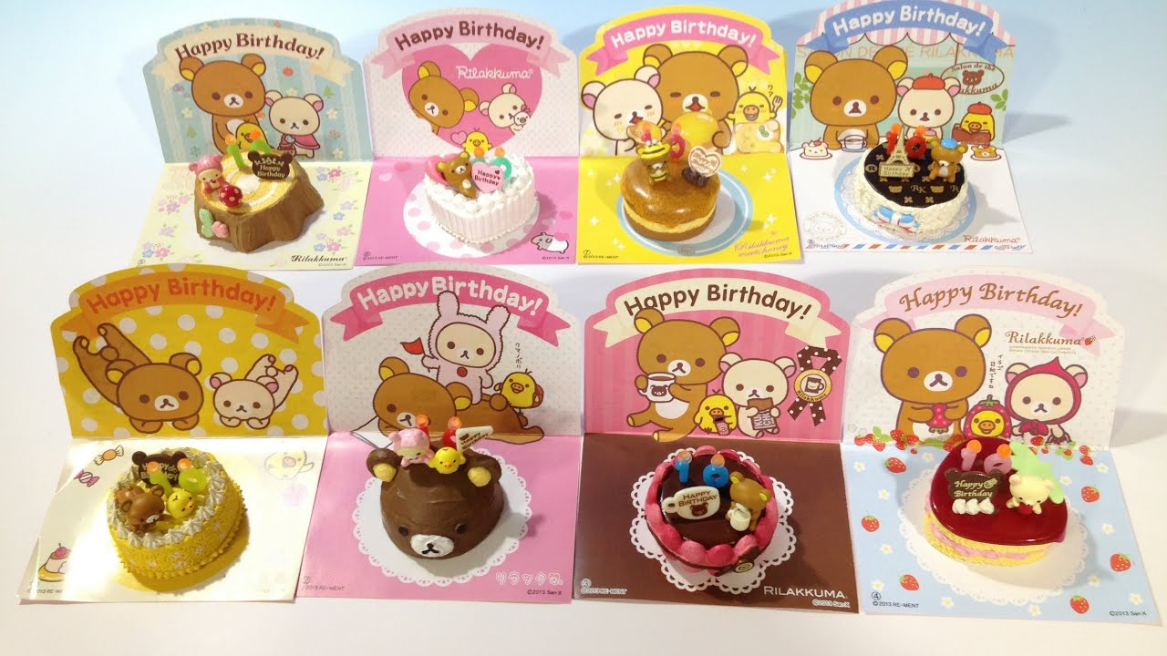 Re Ment Rilakkuma Birthday Cake Collection