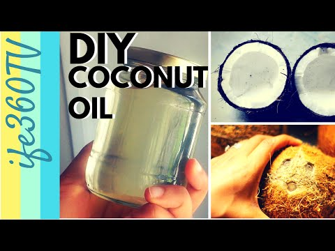 HOW TO MAKE COCONUT OIL AT HOME | Natural Hair #CoconutOil #DIY #Homemade