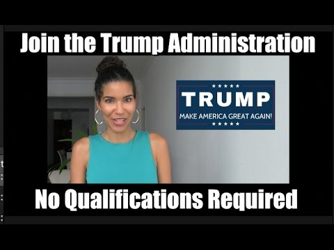 How to get a job in the Trump Administration